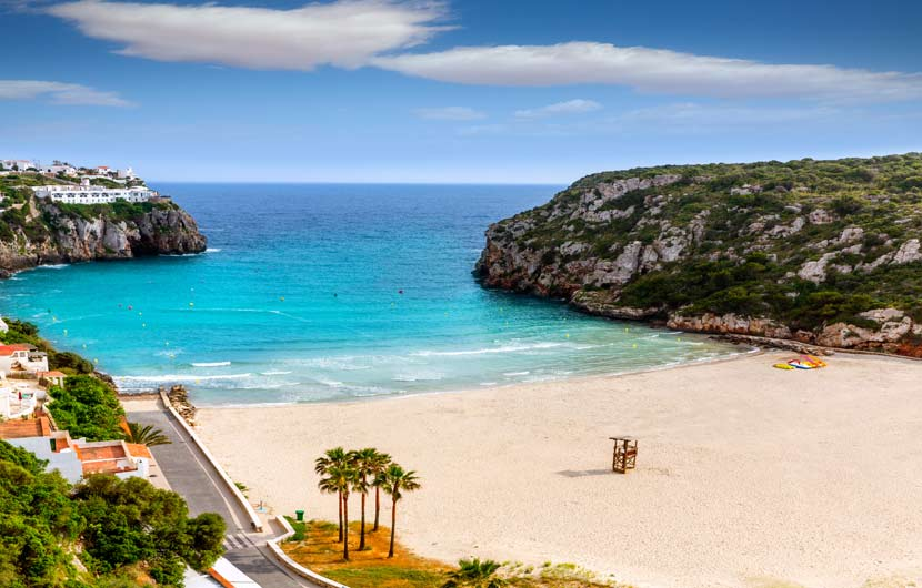 Cala n Porter Menorca if one of the Best Beaches in Spain