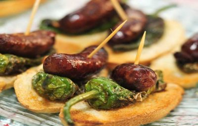 Chorizo & Green Pepper Tapas