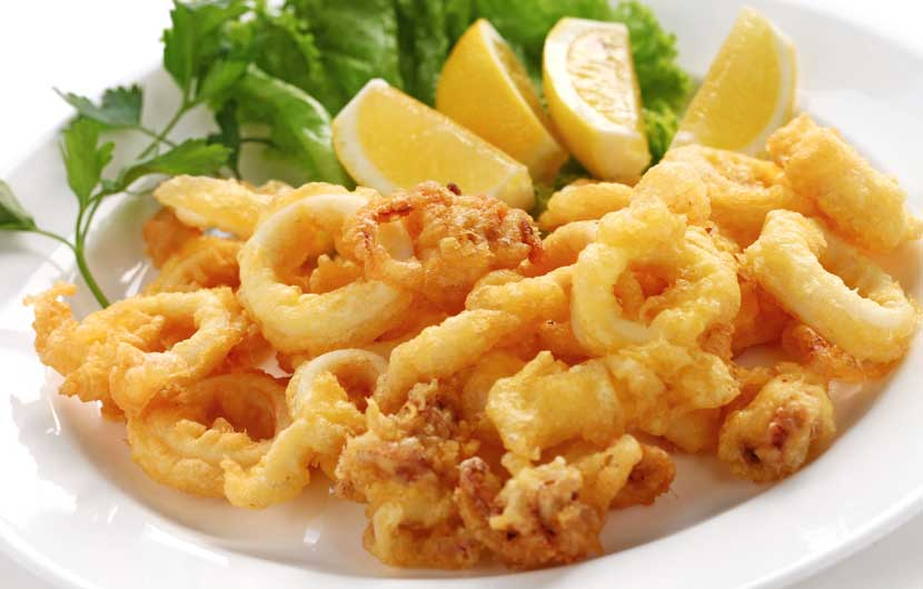 Eating out in Spain - Fried Squid - Calamar Frito