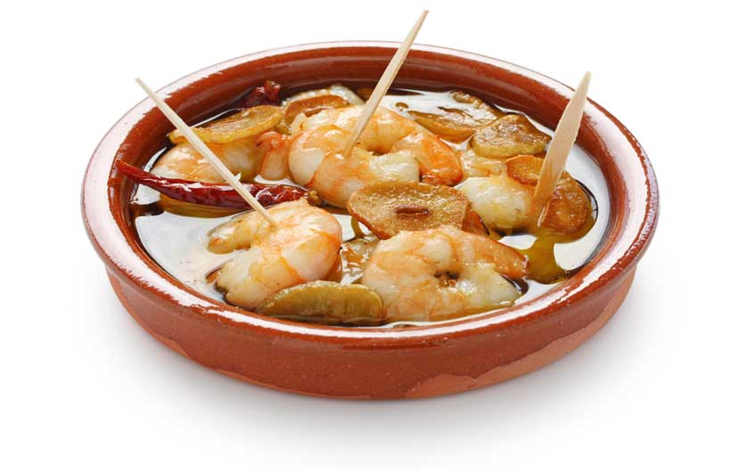 Gambas-Pil Pil - Prawns in Garlic