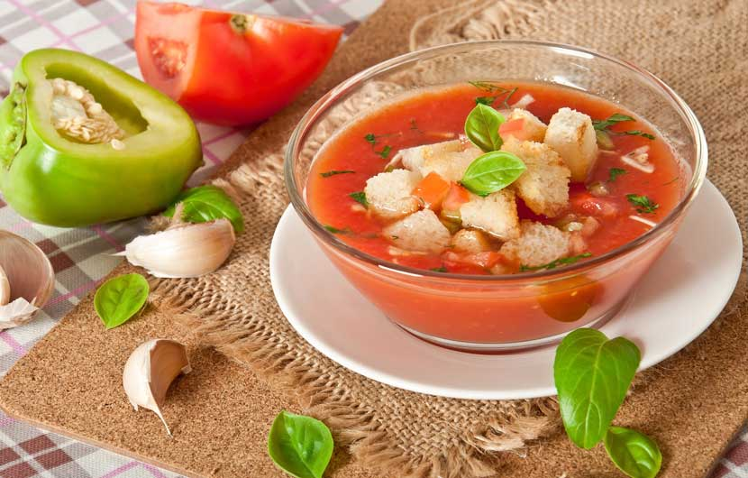 Eating out in Spain Gazpacho Soup