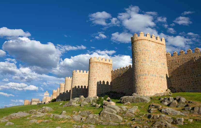Avila Castle Turrets & Walls