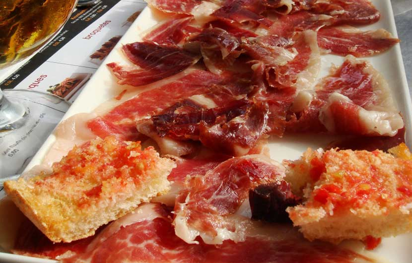 Toasted Bread With Iberian Ham & Tomato