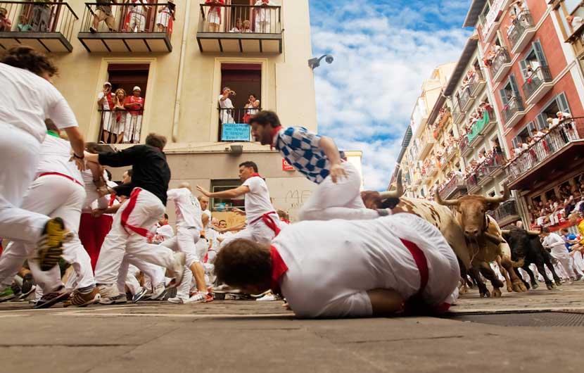 Pamplona Bull Running