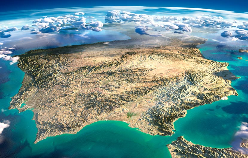 View of Spain from Space