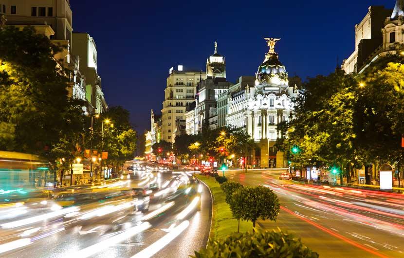 Gran Via Madrid at Night