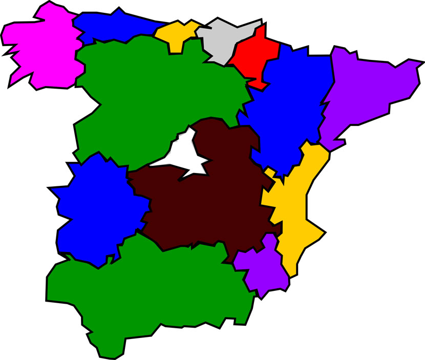 Free Map of Spain